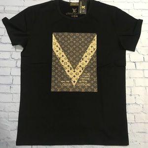 LV tee shirt men's black size M , L